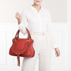 authentic CHLOE Red Marcie Medium Tote Bag
